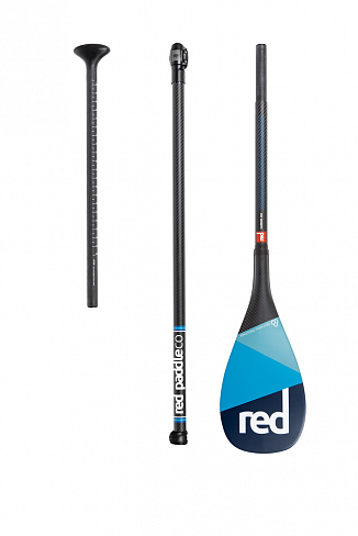 Весло SUP разборное RED PADDLE 2019 CARBON 100% CARBON (3 piece) AntiTwist