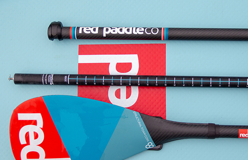 Весло SUP разборное RED PADDLE CARBON 50% CARBON (3 piece) AntiTwist